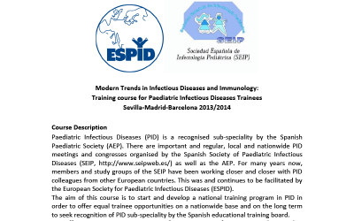 I Modern Trends in Infectious Diseases and Immunology: Training Course for Paediatric Infectious Diseases Trainees.